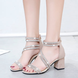 Gwenore Thick Crystal Sandals