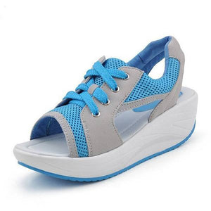 Aadya Lace-up Wedge Sneakers (PROMO 50% OFF!)