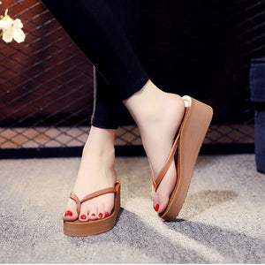 Beverly Wedges Home Slippers