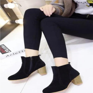 Camila Side Zipper Ankle Boots