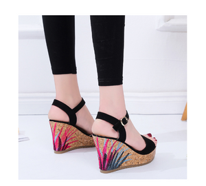 Audelia Summer Graffiti Wedge (PROMO 50% OFF!)