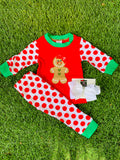 Bowtism Holiday Gingerbread PJ's with Matching Bow