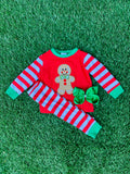 Bowtism Gingerbread PJ's with Matching Bow