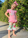 Bowtism Bunny Hop Capri Set with Matching Bow