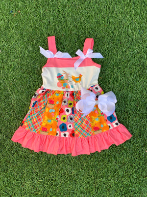 Bowtism Sweetest Easter Dress with Matching Bow