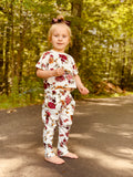 Bowtism Floral Pants Set with Matching Bow