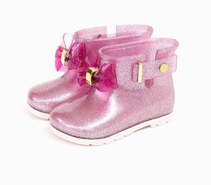 Bowtism Purple Bow Rain Boots
