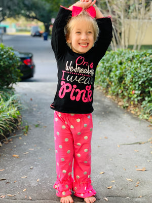Bowtism In Love with Pink Pants Set with Matching Bow