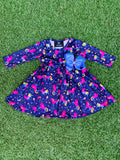 Bowtism Exclusive Unicorn Squad Twirl Dress with Matching Bow