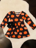 Bowtism Classic Fall Dress with Matching Bow