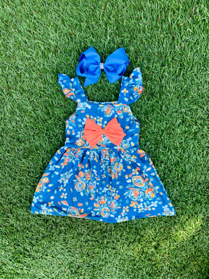 Bowtism Eva Grace Dress with Matching Bow