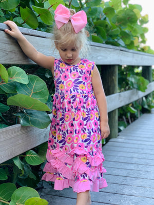 Bowtism Nina Ruffle Dress with Matching Bow