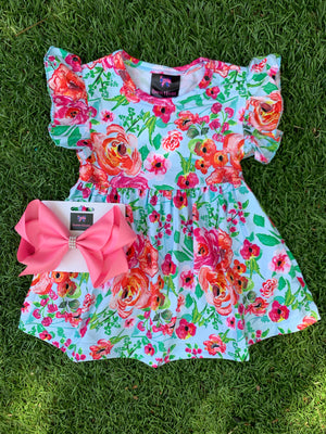Bowtism Forever Summer Floral Dress