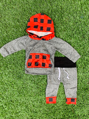 Bowtism Holiday Plaid Hoodie Pants Set