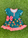 Bowtism Madeline Pocket Dress with Matching Bow