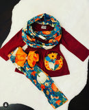 Bowtism Harvest Scarf Set with Matching Bow