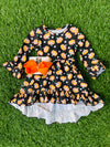 Bowtism Halloween High Low Dress with Matching Bow