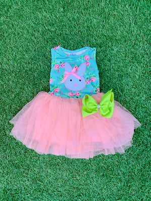 Bowtism Bunny Tutu Dress with Matching Bow