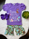Bowtism Bunny Kisses Shorts Set with Matching Bow