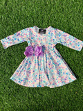 Bowtism Exclusive Seashell Twirl Dress with Matching Bow