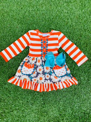 Bowtism Happy Gal Ruffle Dress with Matching Bow