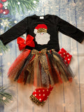 Bowtism Santa Cheetah Tutu Pants Set