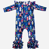 Bowtism Nutcracker Romper with Matching Bow
