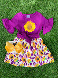 Bowtism Sunflower Paradise Dress with Matching Bow