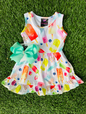 Bowtism Sweet Summertime Stretch Dress with Matching Bow