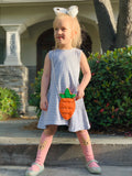Bowtism Casual Spring Dress with Purse and matching bow