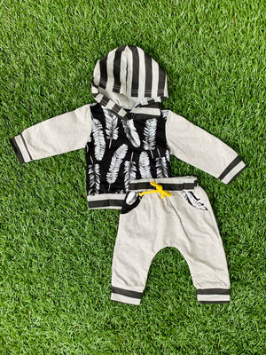 Bowtism Feather Hoodie Pants Set