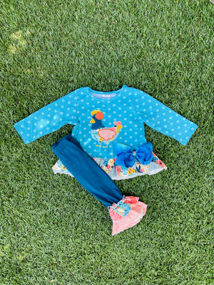 Bowtism Chic A Boom Pants Set with Matching Bow