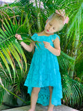 Bowtism Ocean Lace Dress with Matching Bow