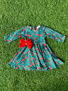 Bowtism Exclusive Winter Wonderland Twirl Dress with Matching Bow