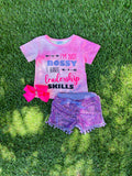 Bowtism Bossy Babe Shorts Set with Matching Bow