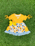 Bowtism Country Fields Dress with Matching Bow