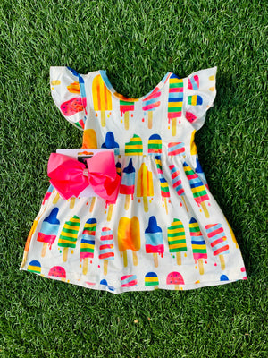 Bowtism Exclusive Popsicle Princess Dress with Matching Bow