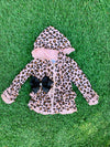 Bowtism Cheetah Girl Jacket with Matching Bow