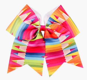 Bowtism Colorful Pencil Hair Tie Bow