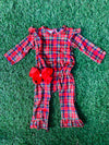 Bowtism Exclusive Tartan Romper with Matching Bow
