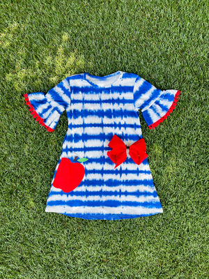 Bowtism Smart Girl Dress with Matching Bow