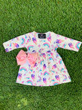 Bowtism Exclusive Unicorn Fairytale Dress with Matching Bow