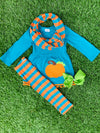 Bowtism Pumpkin Spice Scarf Set with Matching Bow
