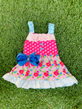 Bowtism Beautiful Blossom Dress with Matching Bow