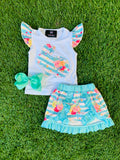 Bowtism Exclusive Bunny Bloomer Skirt Set with Matching Bow