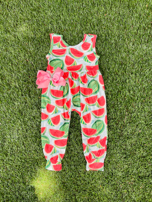 Bowtism Exclusive Watermelon Queen Romper with Matching Bow
