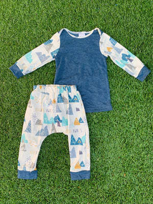 Bowtism Little Mountain Man Pants Set
