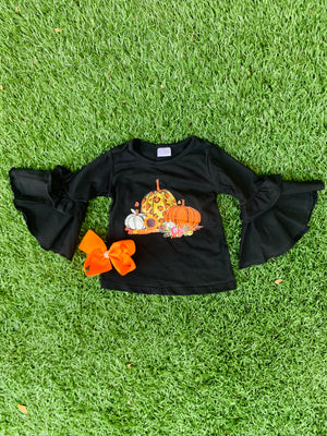 Bowtism Fall in Love Flare Shirt with Matching Bow