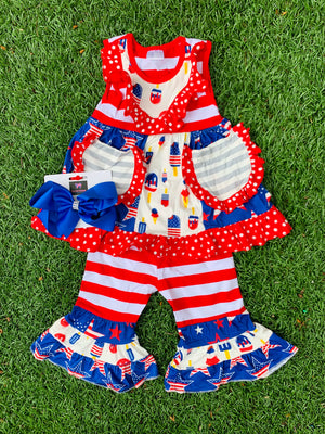 Bowtism Ultimate Summer Ruffle Set With Matching Bow