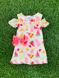 Bowtism Popsicle Life Dress with Matching Bow